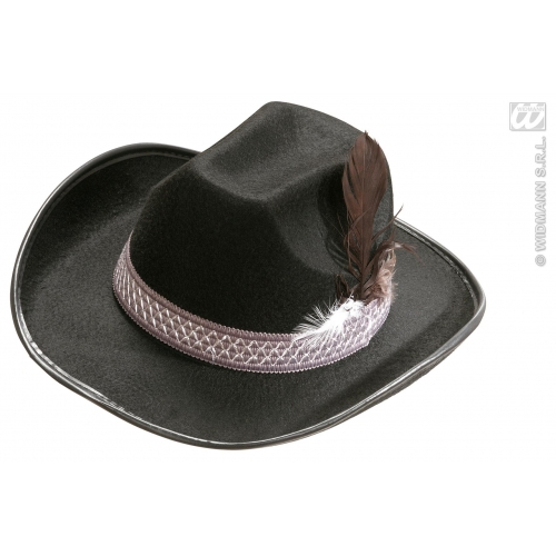 Adult SHERIFF HAT FEATHERS FELT Wild West Cowboy Cop Police Bounty Hunter