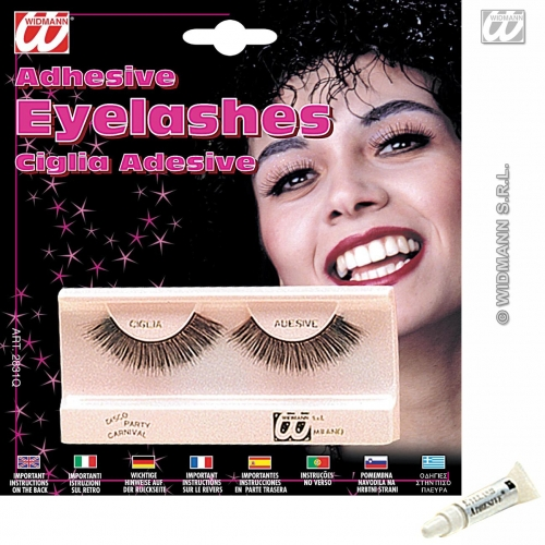 EYELASHES LONG BLACK SFX Make-up Make Up Cosmetics
