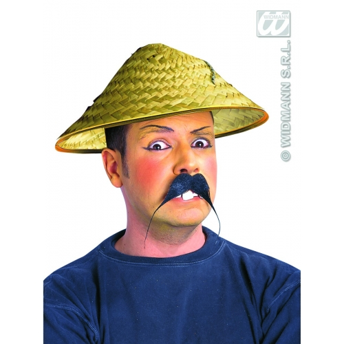 STRAW VIETKONG HAT Disposable for Vietnamese Chinese Oriental Party Tableware