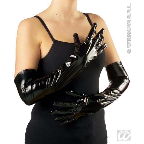 Adult Unisex 50s GLOVES VINYL 56cm 50s Rockabilly Fifties Fancy Dress