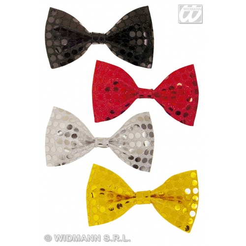 SEQUIN BOW PERFORMER TIE 4 colours Decoration for Hollywood Show Party