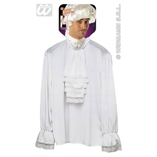 Mens CHARACTER SHIRT WHITE Accessory for Fancy Dress