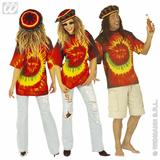 Mens HIPPIE TIE DYE TSHIRT Hippy 60s 70s Mod Retro Vintage Classic Fancy Dress