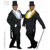 Tailcoat with Seq Collar for Bulesque Can Saloon Moulin Rouge Fancy Dress