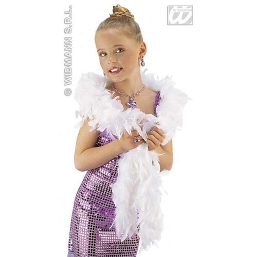 SHIMMER FEATHER BOA Decoration for Flapper Molls Chorus Party