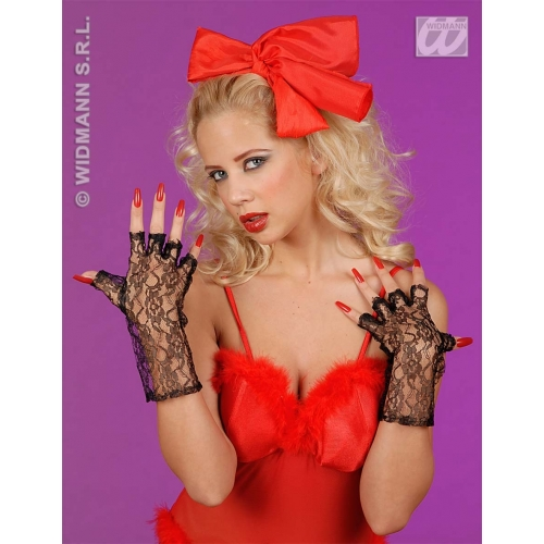 Ladies FLAPPER GLOVES LACE F/LESS F/NET 20s 30s Gangsters Moll Fancy Dress