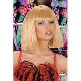 Showgirl Wig for Cleopatra Ladies Fringe Fancy Dress Accessory