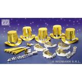 LAS VEGAS PARTY KIT 10 PERSON HOLOG. GOLD Decoration for Party
