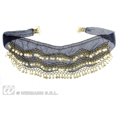 BELLY DANCER WAIST SASHES SFX for Dance Performer Disco Rock Pop Cosmetics