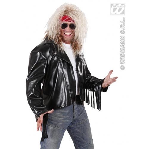 Mens Negan BIKER LEATHERLOOK SAMD FRINGE Rock Punk 60s 80s Angel Fancy Dress