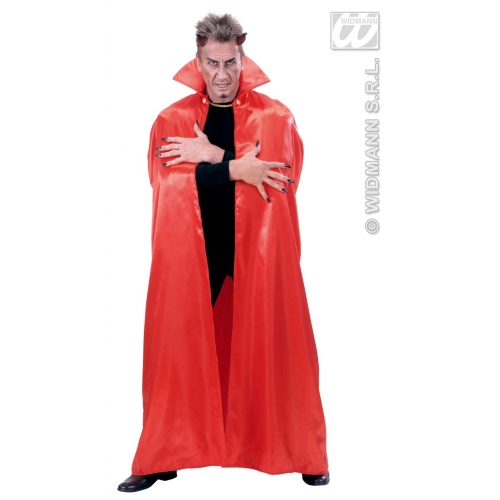 RED LINED SATIN CAPES 158 cm Accessory for Fancy Dress