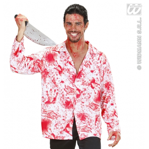 Adult Unisex BLOODY SHIRT Accessory for Bleeding Wound Vampire Fancy Dress
