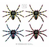 NEON SPIDERS 4 colours Decoration for Insects Creepy Crawlies Party