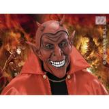SMILING DEVIL MASK Satan Lucifer Demon Antichrist Halloween Fancy Dress