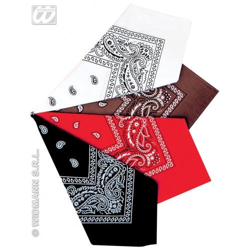 1 BANDANA 55cm (brown/white/red/black) Hat Pirate Biker Redneck Fancy Dress