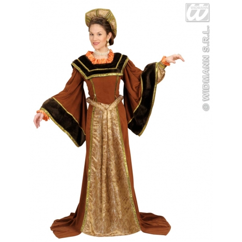 Ladies TUDOR WOMAN Costume for Medieval Middle Ages Fancy Dress Outfit