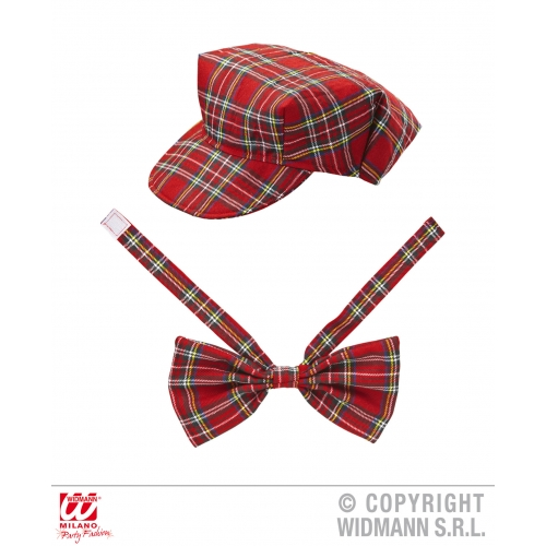RED TARTAN Accessory for Scottish Scot Scotland Highland Fancy Dress