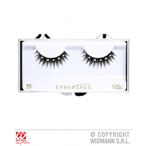 SPIKED EYELASHES WITH STRASS (glass glue bottle) SFX for Cosmetics