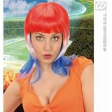 SUPPORTER WOMAN WIG Accessory for Fancy Dress