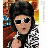 Mens MULLET WET LOOK HAIR MAN WIG 70s 80s Cheese Waddle Hoddle Fancy Dress