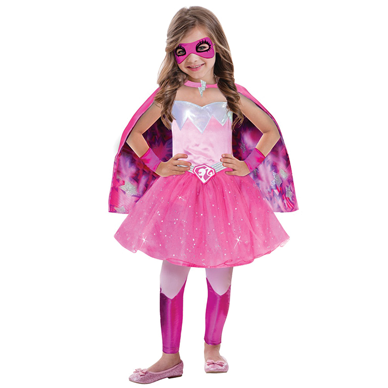 Girls Barbie Super Power Princess Costume for Doll Fancy Dress Outfit