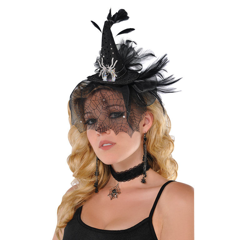 Deluxe Witch Headband Accessory for Halloween Fancy Dress