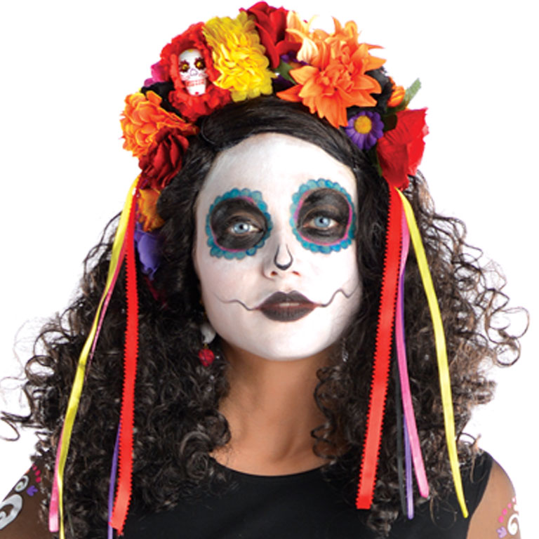 Day of the Dead Headband Accessory for Halloween Fancy Dress