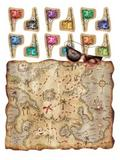 Pirate Treasure Map Party Game for Princesses Hunt Party Game