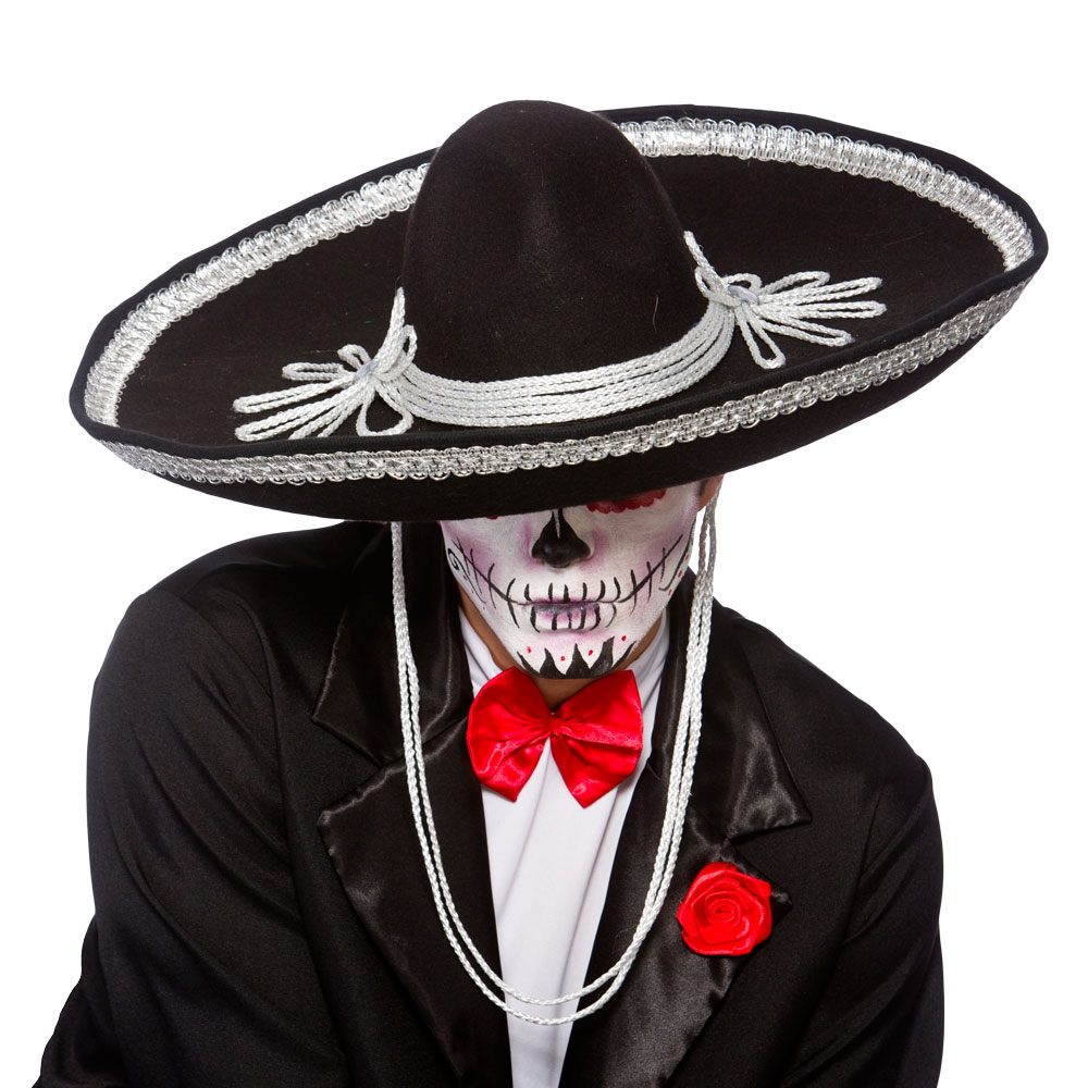 black sombrero hat day of the dead mexico mexican halloween bandit