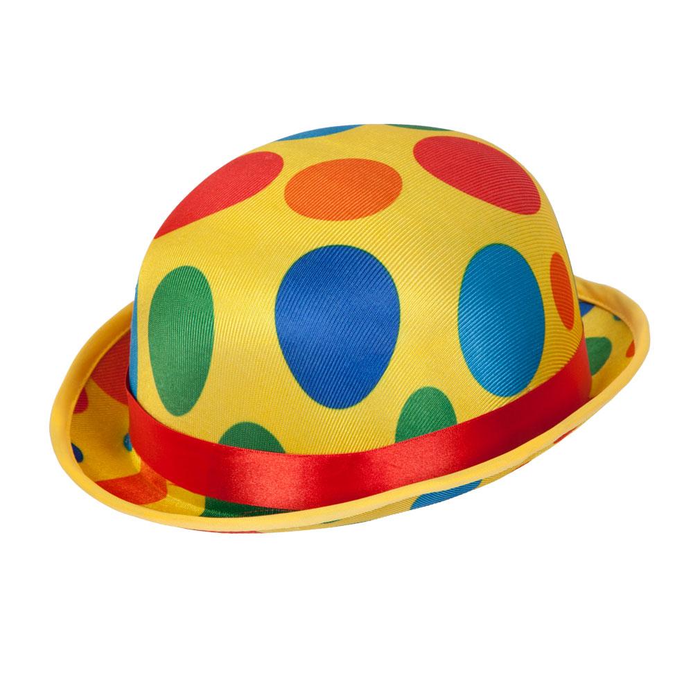 Clown Bowler Hat for Circus Funfair Parade Fancy Dress
