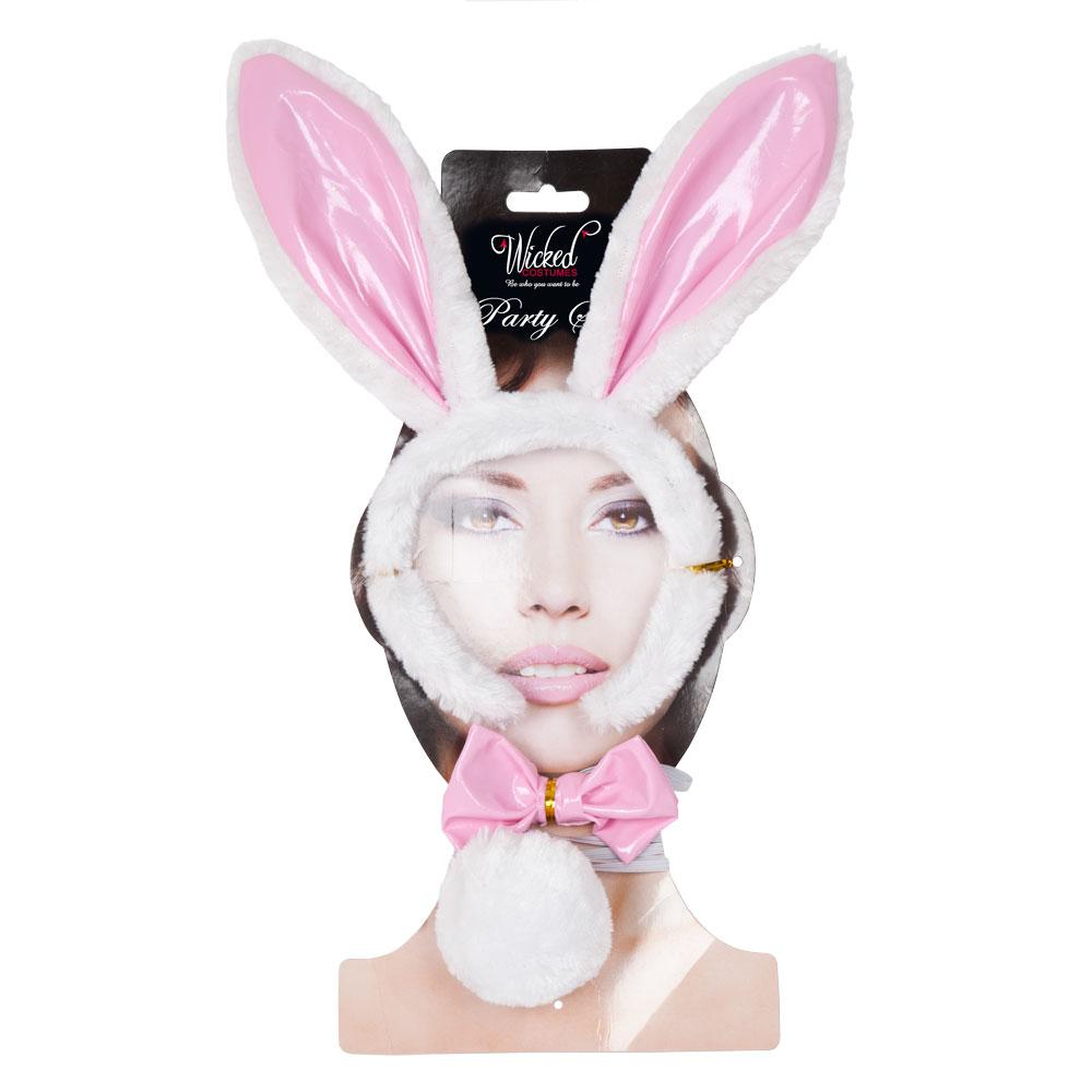 Bunny Girl Headband Set for Rabbit Animals Easter Fancy Dress