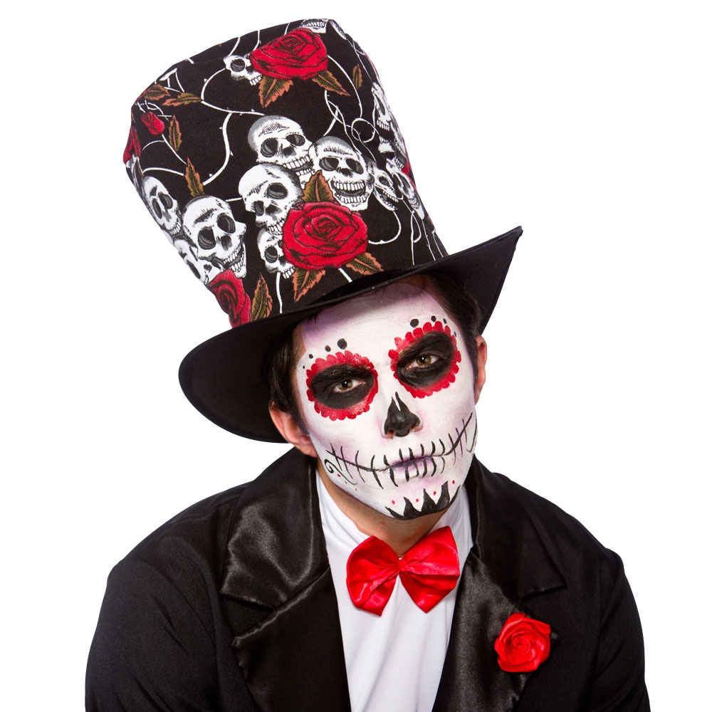 Day Of the Dead Top-Hat for Walking Dead Halloween Zombie Fancy Dress
