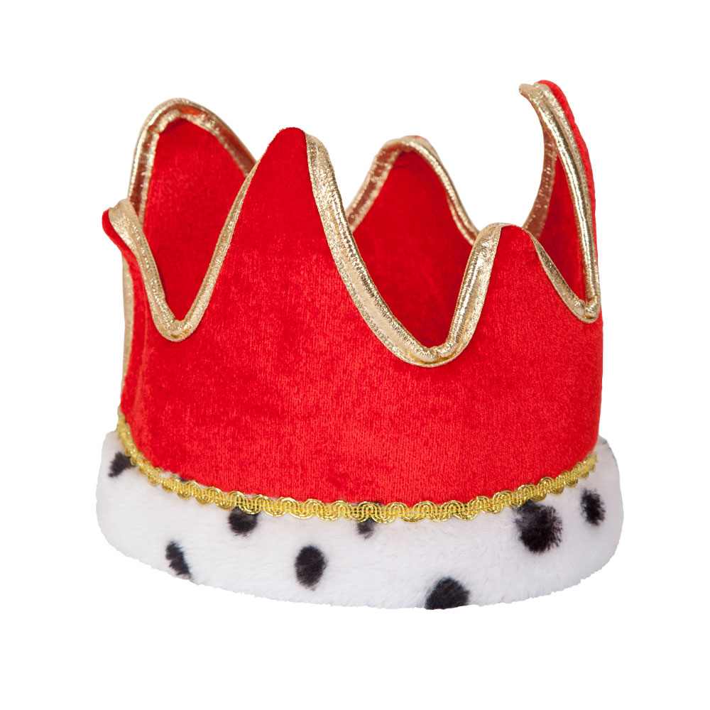 King / Queen Crown Hat for Royal Regal Sire Medieval Leader Ruler Fancy Dress