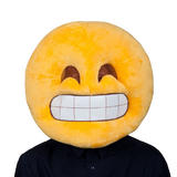 Adults Grin Mascot Head Mask for Emoji Social Media Facebook Iphone Fancy Dress