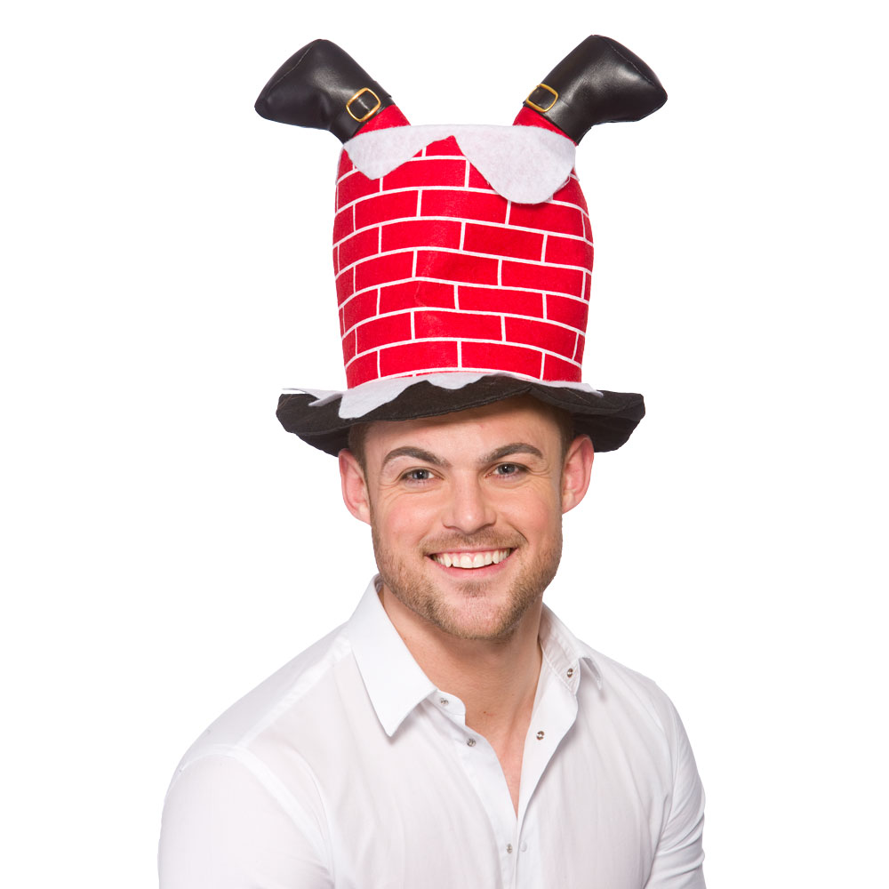 Santa Stuck In Chimney Hat for Father Christmas Fancy Dress