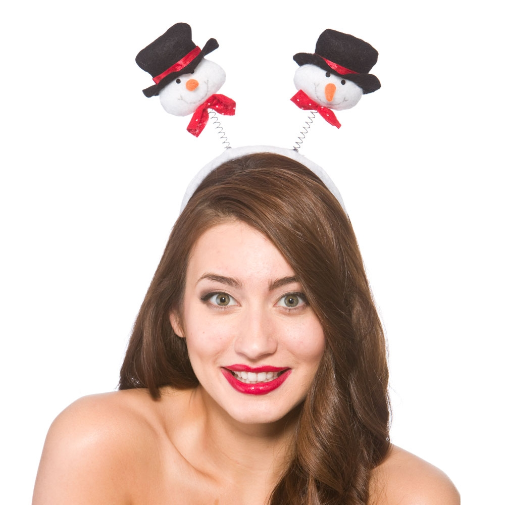Deluxe Snowman Boppers Hat for Christmas Festive Nativity Fancy Dress