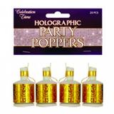 Holographic Party Poppers for New Years Party Favour Favor