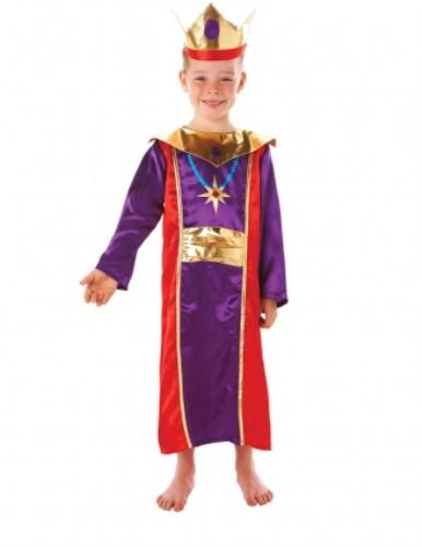 Childrens Boys King Costume for Royal Fancy Dress