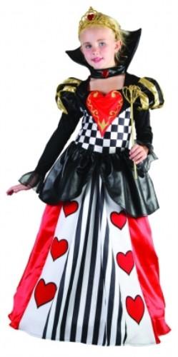 childrens girls queen of hearts costume for fairytale wonderland