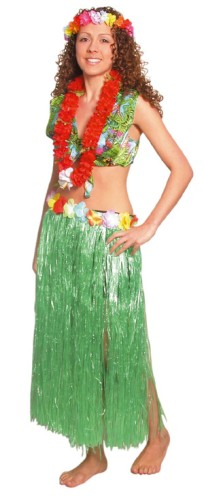 Flowered Hula Skirt for Tropical Beach Fancy Dress Accessory