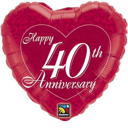 Happy Anniversary Heart Foil Balloon Wedding Helium Party Decorations