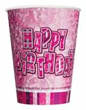 Birthday Glitz Cups for Party Decoration
