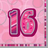 Birthday Glitz Age 16 Lunch Napkins for Party Decoration