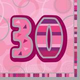 Birthday Glitz Age 30 Lunch Napkins for Party Decoration