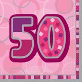 Birthday Glitz Age 50 Lunch Napkins for Party Decoration