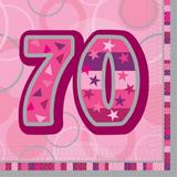 Birthday Glitz Age 70 Lunch Napkins for Party Decoration