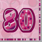 Birthday Glitz Age 80 Lunch Napkins for Party Decoration