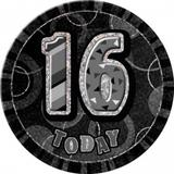 Black Prismatic Birthday Badge Age Party Badge