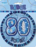 Blue Prismatic Birthday Badge Age Birthday Party Decorations Badge