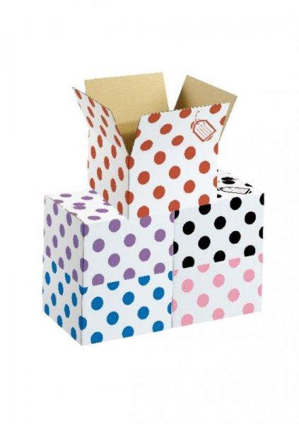 "Balloon Box Polka Dots (15""x9""x15"") Balloons Partyware for Birthday BBQ Party"